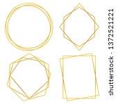 geometric polygonal frames  ...   Shutterstock .eps vector #1372521221