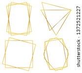 geometric polygonal frames  ... | Shutterstock .eps vector #1372521227
