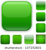set of blank green square... | Shutterstock .eps vector #137252831