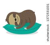 Cute Lazy Little Sloth Sleepin...