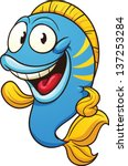 cute cartoon fish. vector clip...