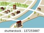 isometric village | Shutterstock .eps vector #137253887