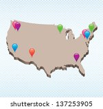 usa map | Shutterstock .eps vector #137253905
