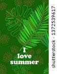 leaves of tropical plants....   Shutterstock .eps vector #1372539617