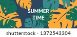 colorful summer banner with... | Shutterstock .eps vector #1372543304