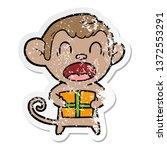 distressed sticker of a... | Shutterstock . vector #1372553291