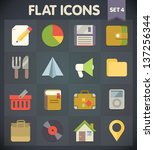 universal flat icons for web... | Shutterstock .eps vector #137256344
