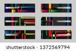 square banner vector collection.... | Shutterstock .eps vector #1372569794