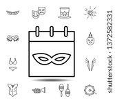 mardi gras  calendar  mask icon....