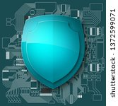 protected guard shield circuit... | Shutterstock .eps vector #1372599071