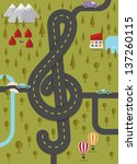 road in the shape of treble... | Shutterstock .eps vector #137260115