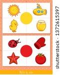 educational children game ... | Shutterstock .eps vector #1372615397