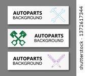 auto parts banner. modern...   Shutterstock .eps vector #1372617344