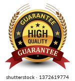 high quality guarantee seal ... | Shutterstock .eps vector #1372619774