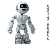 stylish illuminated robotic toy ... | Shutterstock . vector #137265305