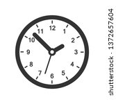 clock sign icon in flat style.... | Shutterstock .eps vector #1372657604