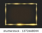 golden frame with light effect. ... | Shutterstock .eps vector #1372668044