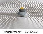 japanese zen garden with... | Shutterstock . vector #137266961