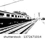 train and railroad made in... | Shutterstock . vector #1372671014