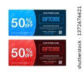 promo code. vector gift voucher ... | Shutterstock .eps vector #1372676621