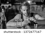 heavy drinking is bad.... | Shutterstock . vector #1372677167