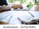 accountant working with data... | Shutterstock . vector #1372678301