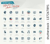 media and advertising icon set | Shutterstock .eps vector #137267891