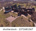 an aerial view of modern... | Shutterstock . vector #1372681367