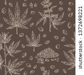seamless pattern with hemp ...   Shutterstock .eps vector #1372698221