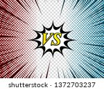 comic duel composition with... | Shutterstock .eps vector #1372703237