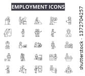 employment line icons  signs ... | Shutterstock .eps vector #1372704257
