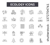 ecology line icons  signs ... | Shutterstock .eps vector #1372704761
