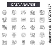 data analysis line icons  signs ... | Shutterstock .eps vector #1372706927