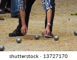 Petanque Game In France ...