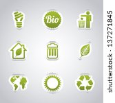 ecology icons over gray...   Shutterstock .eps vector #137271845