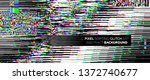 pixel sorting glitch background ... | Shutterstock .eps vector #1372740677