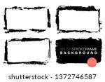 hand drawn grunge frames... | Shutterstock .eps vector #1372746587