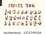 dessert font abc  modern flat...   Shutterstock .eps vector #1372749104