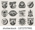 monochrome vintage brewing...   Shutterstock .eps vector #1372757981