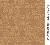 beige seamless pattern with... | Shutterstock . vector #137276141