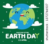 earth day is an annual event...   Shutterstock .eps vector #1372766537