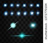 set of vector neon light... | Shutterstock .eps vector #1372770104