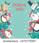 christmas card with santa ... | Shutterstock .eps vector #1372775507