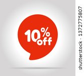 special offer sale red tag.... | Shutterstock .eps vector #1372775807