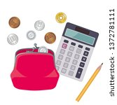 illustration of wallet and... | Shutterstock .eps vector #1372781111