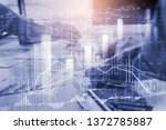 stock market or forex trading... | Shutterstock . vector #1372785887