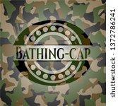 bathing cap on camo texture | Shutterstock .eps vector #1372786241
