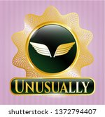 golden emblem with wings icon... | Shutterstock .eps vector #1372794407