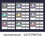 2020 calendar design. week...   Shutterstock .eps vector #1372798754