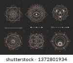 vector set of sacred geometric... | Shutterstock .eps vector #1372801934
